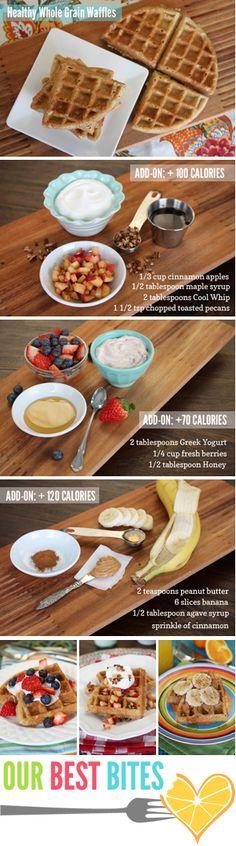 Healthy Whole Grain Waffles {3 Ways!}