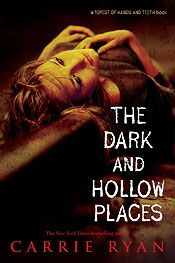 The Dark and Hollow Places by Carrie Ryan.  Annah's world stopped the day Elias left and she's been waiting for him to come home ever since. Without him, her life doesn't feel much different from that of the dead that roam the wasted city around her. Then she meets Catcher and everything feels alive again. Except, Catcher has his own secrets...