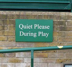 Wimbledon Tennis sign.