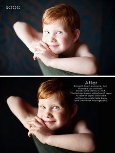 Dark contrast portrait tips