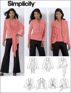 """Simplicity 2603 Misses Knit Top and Cardi-Wrap-""""Best patterns of 2009"""""""