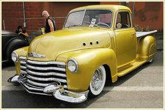 classic cars, chevi pickup, dream, art 1948, ass car, chevi truck, yellow, awesom truck, 1948 chevi