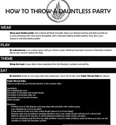 Dauntless Party. This is so happening!