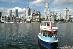 Take the water taxi to Granville Island