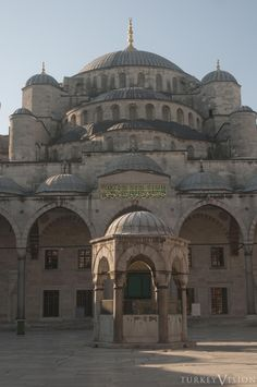 Istanbul. Overlapping dome structure of the Blue Mosque
