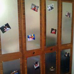 sheet metal projects, closet doors, magnet boards, door style, metal sheet