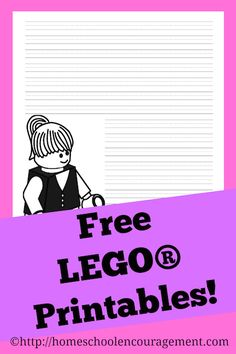 Free LEGO girl printable notebooking pages from #Homeschool Encouragement