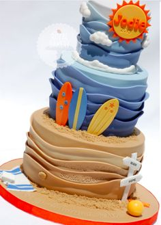 Under the sea or beach cake