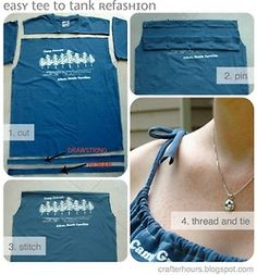 how to make a t shirt into a tank top