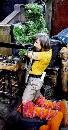 Jim Henson multitasking.