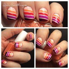 Stripe Ombré Nails