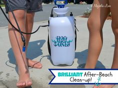 Super idea!  Keep a tank sprayer filled with water in your car for a trip to the beach--bypass the lines at the showers and clean the sand off fast!  Vinyl decal reminds you that this sprayer should be used for water only.