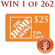 Free Home Depot Gift Card Giveaway (265 winners)