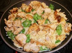 The Recipe Crayon Box: Lemon Angel Hair with Chicken and Spinach