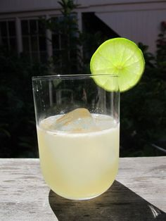 A drink with tequila, New Zealand honey, lime, and Tabasco. Delicious.