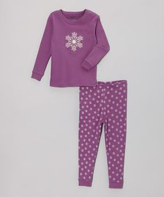 This Purple Snowflake Pajama Set - Infant, Toddler & Girls is perfect! #zulilyfinds