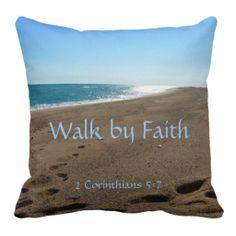 Faith Quote Throw Pillow