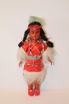 Vintage Native American Doll With two babies on her by AVintageDay, $15.00
