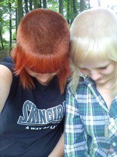 skinhead girls. #blonde #skinhead #punk #chelsea #hair