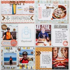 2014 Project Life | June p.6 - Scrapbook.com - Create your own cork embellishments.