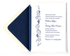 Grapevine Wedding Invitations - available in a variety of color options and fully customizable. - Wine Country Occasions, www.winecountryoccasions.com