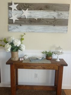 Make with the barn boards that I have from the farm