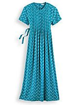 Pintuck Challis Dress | Willow Ridge. Love the color and flow. Looks comfortable.