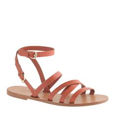 maren cross-strap sandals / j.crew