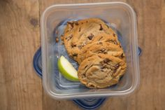 Drop a few apple wedges into a sealed container with extra cake, brownies, or soft cookies to keep desserts from going stale.