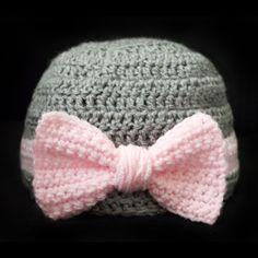 #Crochet Pattern: Big Bow Beanie (5 Sizes) - for sale via @crochetspot