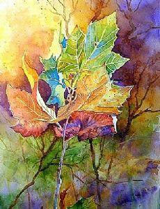 AUTUMN BLAZE by Mary Shepard Watercolor