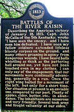 Battle of the River Raisin Historical Marker in Monroe, MI