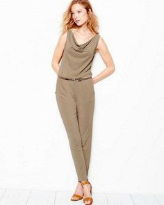 Our modern jumpsuit is the ultimate in one-piece dressing — slip it on and go!