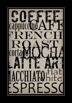 Subway Art Sign Coffee