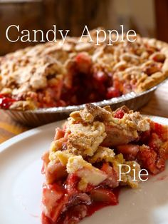 Candy Apple Pie.  Tastes just like a candy apple from the fair! Looks like it's do easy to make!
