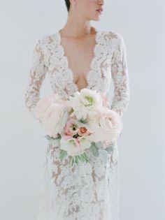 #bridal #wedding #bouquet #bloom #floral #details bouquet shot, reception dresses, bride, lace dresses