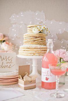 <3 <3 ADD diy www.customweddingprintables.com #customweddingprintables... Pancake wedding cake