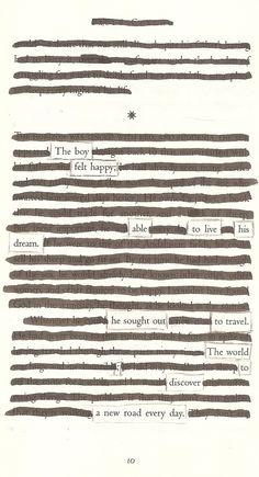 A New Road - Blackout Poem by Kevin Harrell www.blackoutpoetry.net