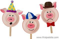 Three Little Pigs Paper Plate Masks