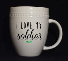 Military Love Mugs  MADE TO ORDER by DistinctlyDottys on Etsy