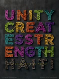 Unity Creates Strength
