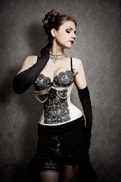 Beautiful black lace corset