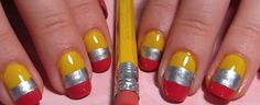 """I love these """"pencil nails""""!! :) Check out the tutorial!"""