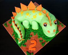 How To Make A D Standing Dinosaur Cake