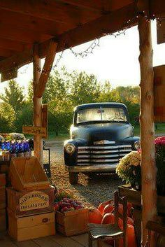 country store and vintage truck