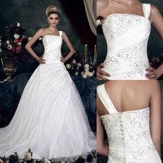 Beautiful One Strap Wedding Dress