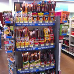Looking for protein-on-the-go? Slim Jims are an unhealthy choice. Walmart, you can do better! (Walmart Supercenter, Bechtelsville, PA, 8/14)