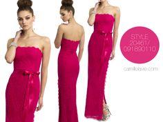 Camille La Vie Strapless Lace Prom Dress