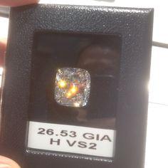 26.53 Carat Cushion Cut Diamond #diamonds #JCK #Jewelry Market Week #OKC #Jeweler