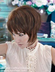 Short hair styled close to the neck